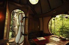 Une maison bulle dans les arbres