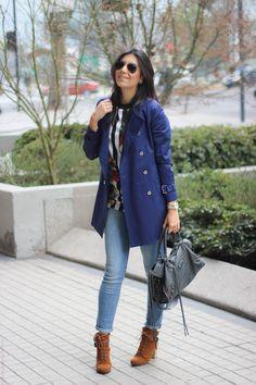 look do dia casaco trench coat jeans bota santiago chile borboletas na carteira fashion estilo style 4-4