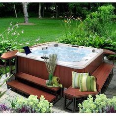 Hot Tub Gazebo, Hot Tub Backyard, Hot Tub Garden, Swimming Pools Backyard, Backyard Patio, Backyard Landscaping, Garden Jacuzzi Ideas, Lap Pools, Indoor Pools
