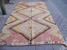 5 7 x 11 8 Fuß-173x360cm-handgemachte türkische Jahrgang Nomaden Kelim Rug Company, Hauptdekor Rug, orientalische Nomad Kilim Teppich, Jahrgang