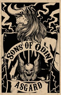 Son's of Odin Poster by DanCapitumini on Etsy, $15.00 Nice mashup!