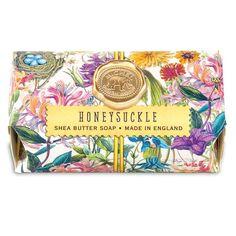 "Large Bar for Like the Michel Design Works Bath Soap ""Honeysuckle"" scented oz. Carrot Soap Recipe, Handmade Soap Packaging, Organic Bar Soap, Large Baths, Shea Butter Soap, Soap Maker, Bath Soap, Soap Recipes, Vintage Flowers"