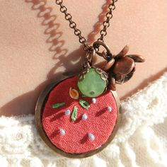 Embroider / pretty things necklace, $25.00