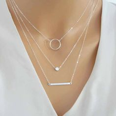 Wild Aperture Metal Rods Necklace For Women, Gold Silver Multilayer Necklace, Charm Jewelry Silver Pendant Necklace, Bar Necklace, Sterling Silver Necklaces, Silver Earrings, Silver Jewelry, Silver Ring, Gold Jewellery, 925 Silver, Garnet Necklace