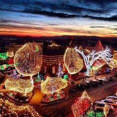 Fayetteville, AR Square. Lights of the Ozarks.   Arkansas ...