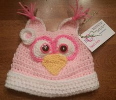 Toddler Owl Hat - Olivia Mae in Pink