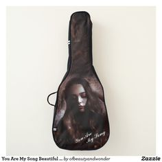 You Are My Song Beautiful Girl Guitar Bag - girl gifts special unique diy gift idea Love Gifts, Girl Gifts, Personalized Products, Personalized Gifts, Guitar Bag, One Bag, Backpack Straps, Girls Bags, Custom Bags