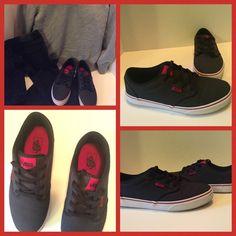 Authentic Boy's Vans Black denim look, with black laces Vans Shoes Sneakers