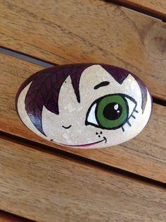#little mr #painted rock #pebble #stone  #acrylics #N4Joy