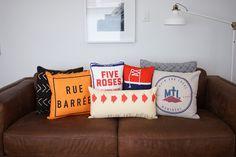 Les coussins MTL! Bed Pillows, Pillow Cases, Decorating, House, Collection, Throw Pillows, Pillows, Decor, Decoration