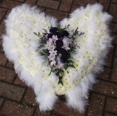 angel wings funeral arrangement | angel wings