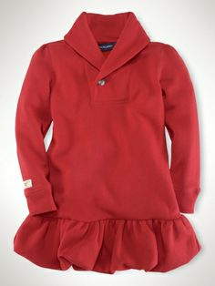 Fleece Shawl Dress - Girls 2-6X Dresses & Rompers - RalphLauren.com