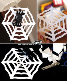 diy spiderweb Halloween's version of the snowflake!  http://krokotak.com/2013/03/how-to-make-a-spiderweb/