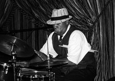 """Shannon Powell- New Orleans Jazz drummer known as """"The King of Treme""""."""