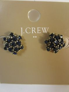 J.Crew Factory Cluster Earrings Style B3738 Nwt $18.50 Navy