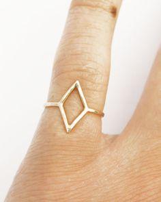 Thin Diamond Shape Ring