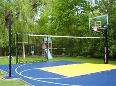sport courts in backyards | Residential Sport backyard game court