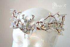 Couronne elfique de la mariée de diadème - tiare elfique - cerf