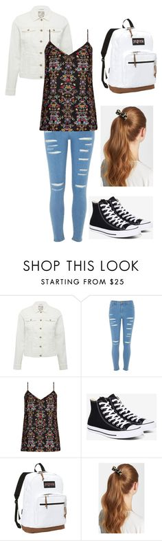 """Just your average day out :)"" by benjiedaisy ❤ liked on Polyvore featuring M&Co, River Island, City Chic, Converse, JanSport, L. Erickson, casual, floral and plus size clothing"