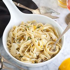 Just 5 ingredients in this decadent Meyer Lemon Fettuccine