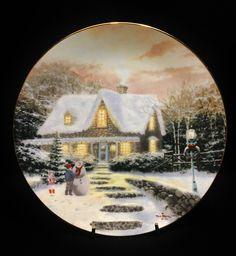 1991 Knowles Home to Grandma's by American Artist Thomas Kinkade