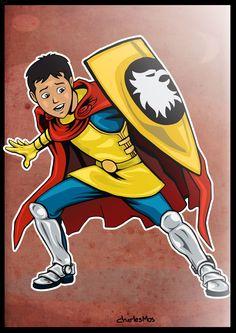 Eric, the cavalier - Animated serie Dungeons and dragons ou no Brasil como Caverna do Dragão - Por Charles Mos
