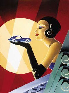 art deco woman posters - Google Search