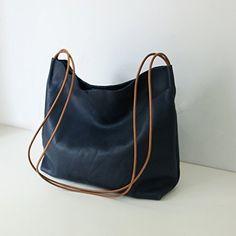 Handmade Leather bagShoulder HandbagsCrossbody Handbag  Midnight blue BagShopping BagChristmas Gifts *** Read more details by clicking on the image. #Handmadehandbags