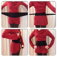 Simple Obi Belt by SacredEmpire on Etsy I'd make it a little different but it shows the idea clearly.