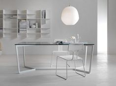 Mesa de comedor rectangular de cristal TRAIL - MY home collection