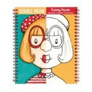 Double Draw - Funny Faces  Learn to sketch, doodle and copy these silly faces.