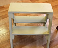 I purchased the little homemade step stool at a thrift shop the other day.  Since my laundry room is next to my kitchen, it serves as a ...