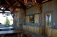 Convert an old barn into a party palace and guest house