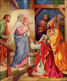 "Solemnity of the Epiphany of the Lord: Meditation for praying through art; Pope Benedict XVI, ""Jesus of Nazareth: The Infancy Narratives"", Fr. Epiphany Of The Lord, Joseph, Jesus Christus, Three Wise Men, Biblical Art, Christmas Poster, Holy Family, Blessed Mother, Mother Mary"