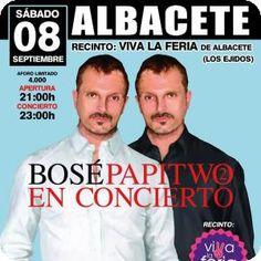 Concierto Miguel Bosé en Albacete Gira PAPITWO