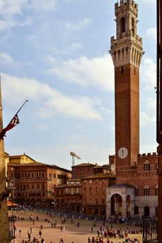 Siena's bell tower and famous Piazza del Campo  www.talesoftwoblog.blogspot.com