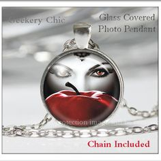 Once Upon A Time Glass Photo Pendant Silver Necklace Jewelry by ChicBridalBoutique on Opensky