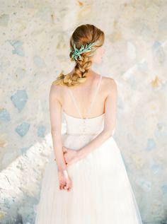 Romantic Braids with Flowers | Brides.com