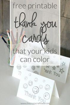 Printable Thank You Card Coloring Sheets