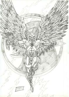 hawk guy coloring pages - photo#32