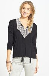 Elodie Embroidered Bib Top (Juniors)