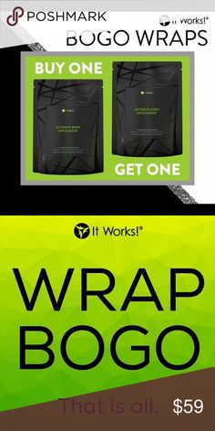 ItWorks Wraps Ends tonight! I need one more product tester!! 8 wraps for the price of 4!!! COMMENT IF YOU HAVE QUESTIONS OR INTERESTED!!! itworks Other