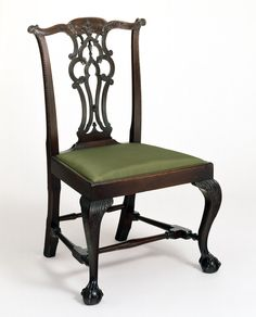 Side Chair, 1760-1775.  Unknown maker; Boston.  (1961.0140.001 A,B)