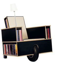 Nils Holger Moormann Moormann Bookinist is a movable chair designed especially for reading.It is based on the principle of a pu. Art Furniture, Funky Furniture, Bookcase Shelves, Shelving, Bookcases, Hidden Compartments, What's Your Style, Best Interior Design, Chair Design