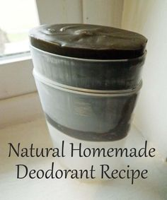 Homemade Deodorant Recipe that really works!