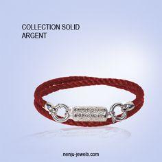 #Bracelet #Karma,#bijoux en #argent925 et cordon par #Nenjujewels. #joaillerie #bijouterie