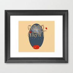 Good  night  Framed Art Print by Elliot Swanson  - $30.00