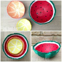 Make Some Papier Mache Summer Fruit Bowls | Easy And Fun Summer Crafts | DIY Projects