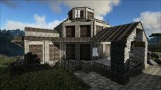 Main Event Building For Winter WonderLand Bake Off. Ark Survival Evolved Tips, Jurassic Ark, Minecraft Blueprints, Cool Pictures, House Plans, Cabin, Architecture, House Styles, Building