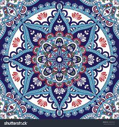 Azul, Rojo, Verde. Mandalas Mandala Design, Mandala Art, Mandala Drawing, Tile Patterns, Pattern Art, Wall Art Designs, Design Art, Interior Design, Mandala Wallpaper